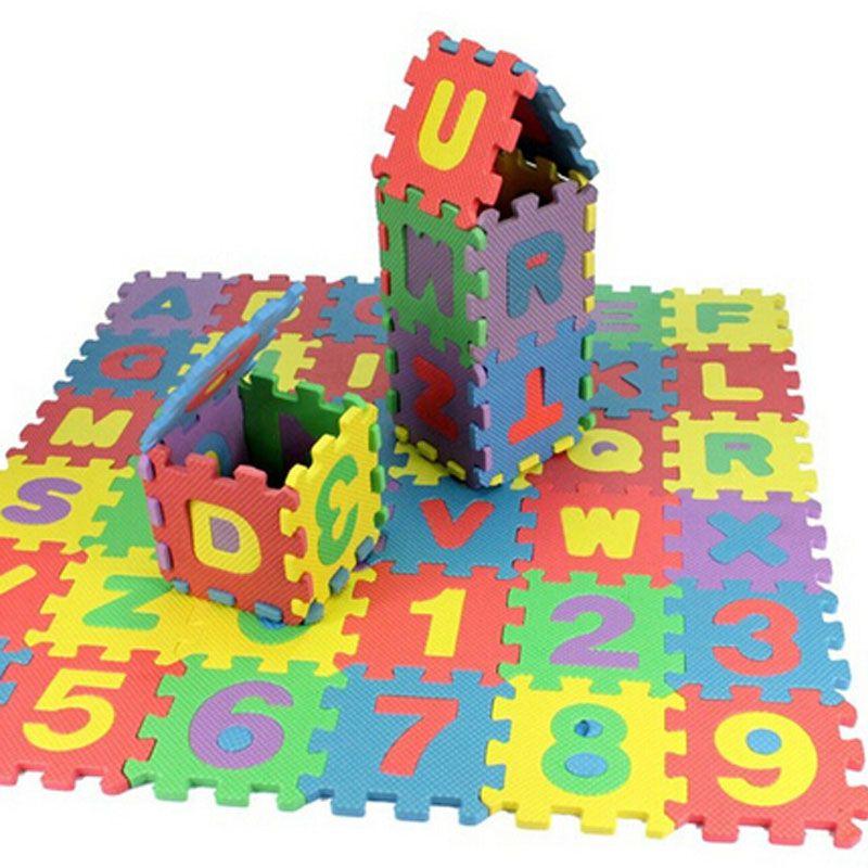 Acheter 36 Pcs Eva Puzzle Bebe Jouets Mousse Alphabet Numeros Tapis