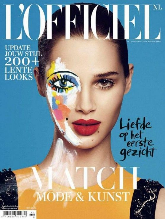 Anais Pouliot by Jonas Bresnan for L'Officiel Netherlands February 2014 cover