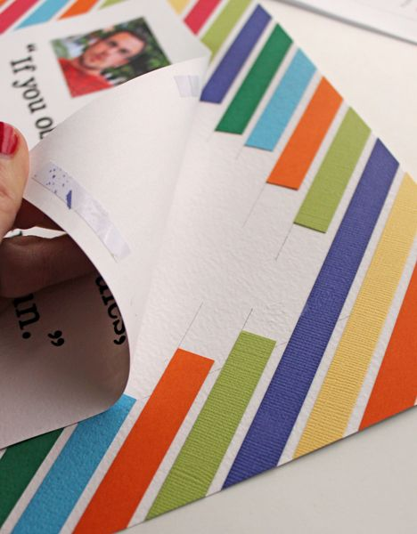 Love This Idea For Using Scraps To Make A Colorful Page