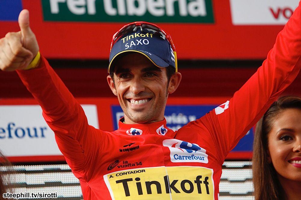 2014 vuelta-a-espana photos stage-18 - Race leader, Alberto Contador (Tinkoff - Saxo) by 1:19 over Chris Froome