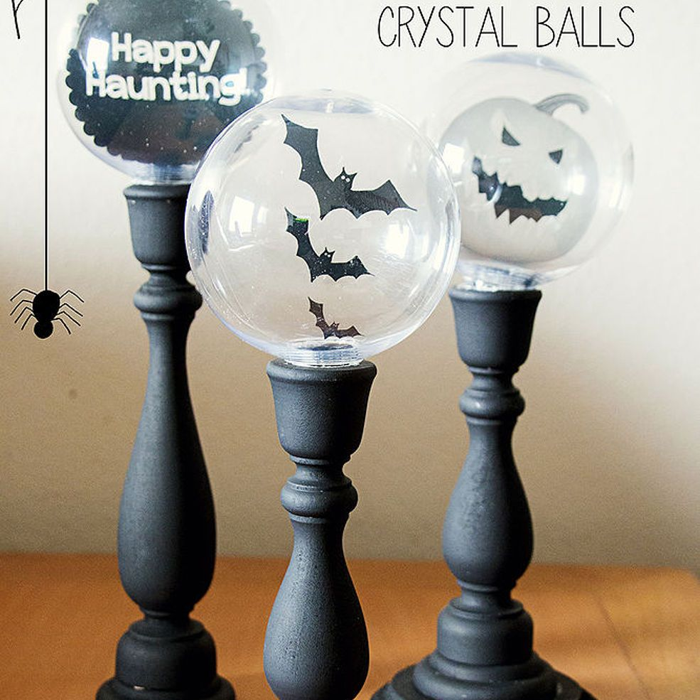 Halloween Crystal Ball Candlestick Decorations Crystal ball, DIY - Halloween Office Decorations Ideas