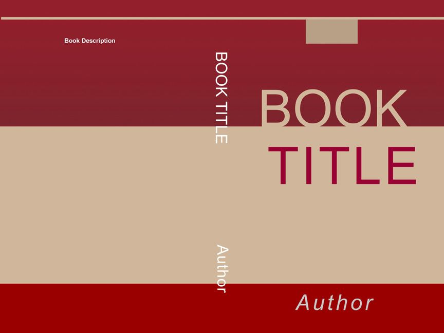 design a book jacket template - as you can see in this back cover design that is it very