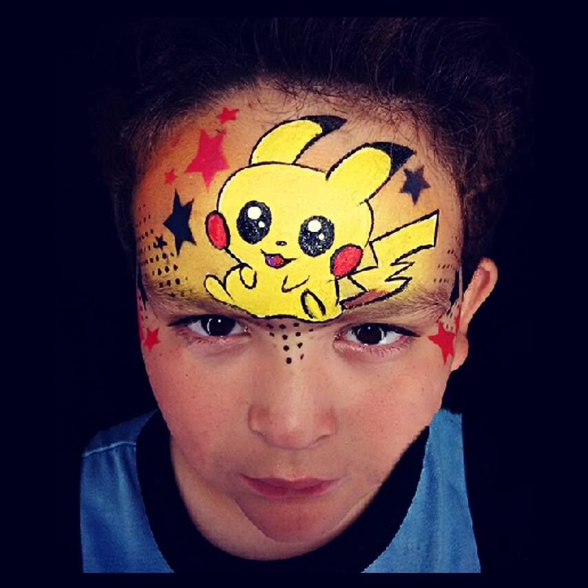 Image Result For Pikachu Face Paint Superhero Face Painting Pikachu Face Painting Face Painting Halloween