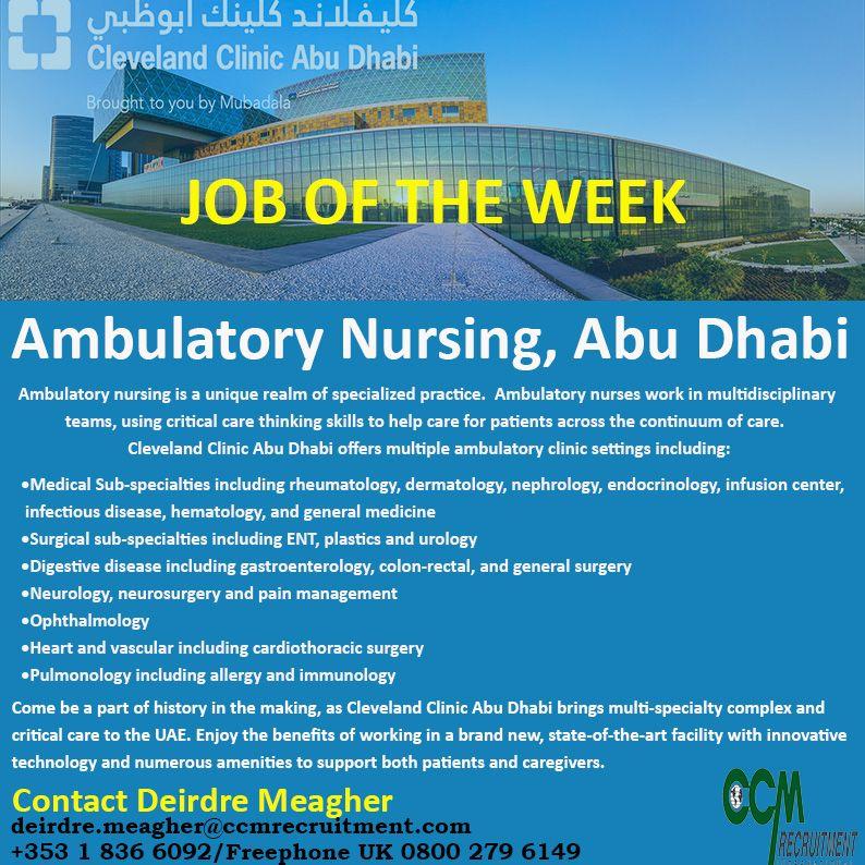 Hot job of the week ambulatory nursing abu dhabi