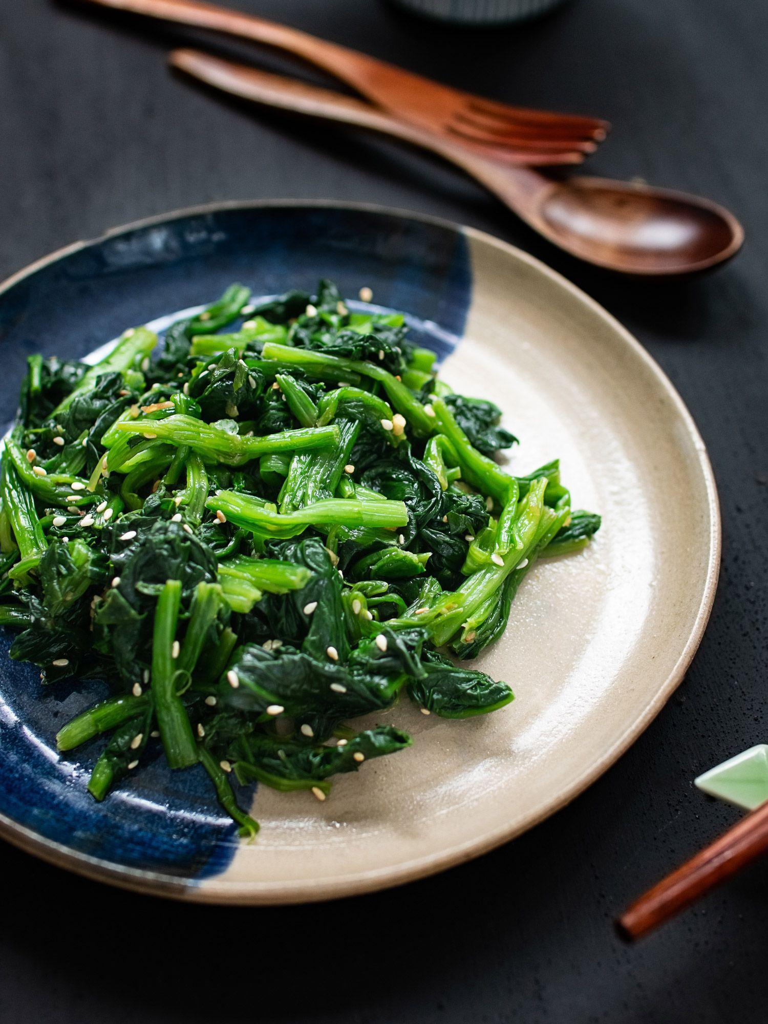 Korean Style Sesame Spinach Salad Sigeumchi Namul