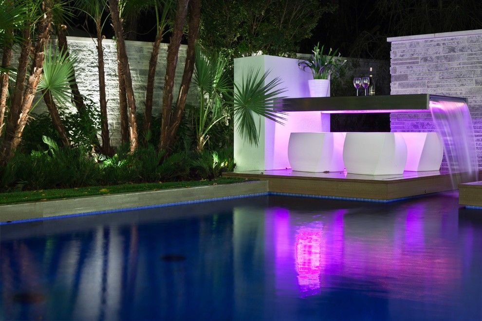 garten-mit-pool-beistelltisch-luxus-modern | dekoration, Best garten ideen