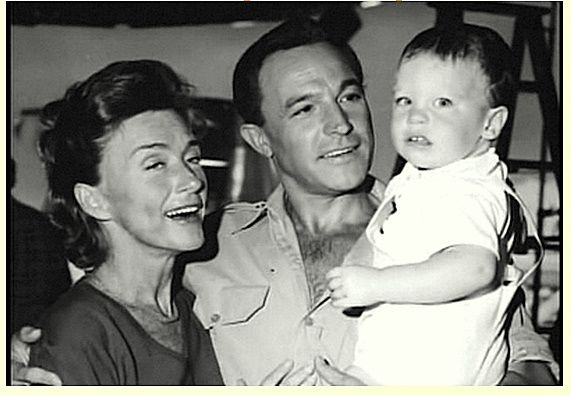 Gene Kelly with his second wife, Jeanne Coyne, and their son