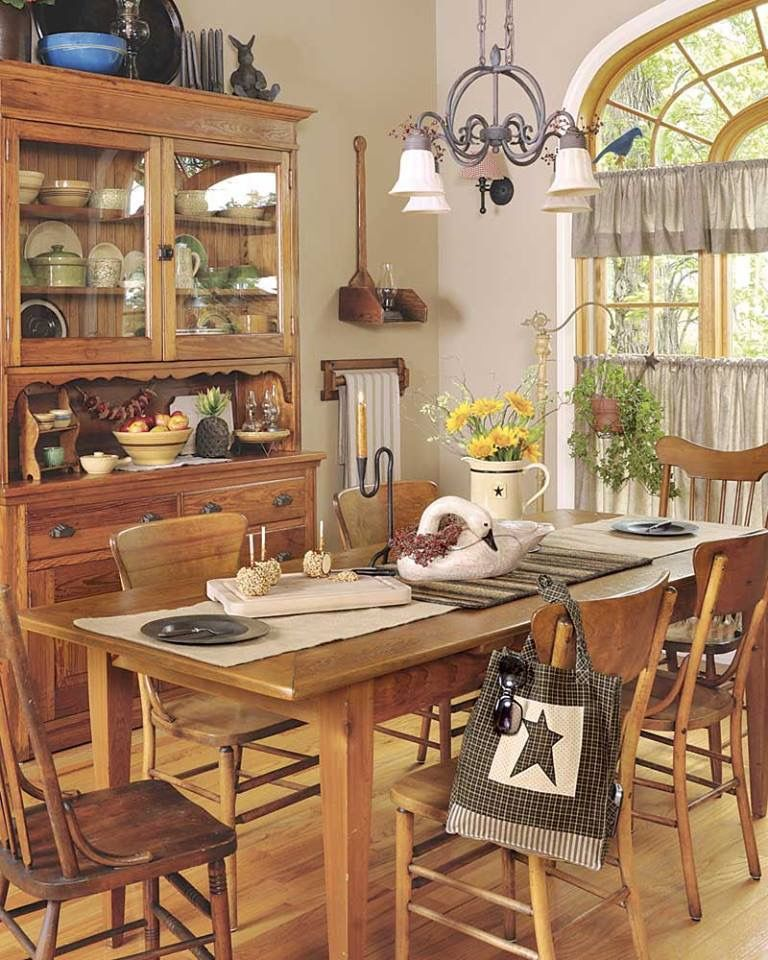 Beautiful Country Sampler Magazine, Cozy Dining Rooms, Timeline Photos, Kitchen  Things, Thanksgiving Ideas, China Cabinet, Country Kitchens, Country Style,  ...