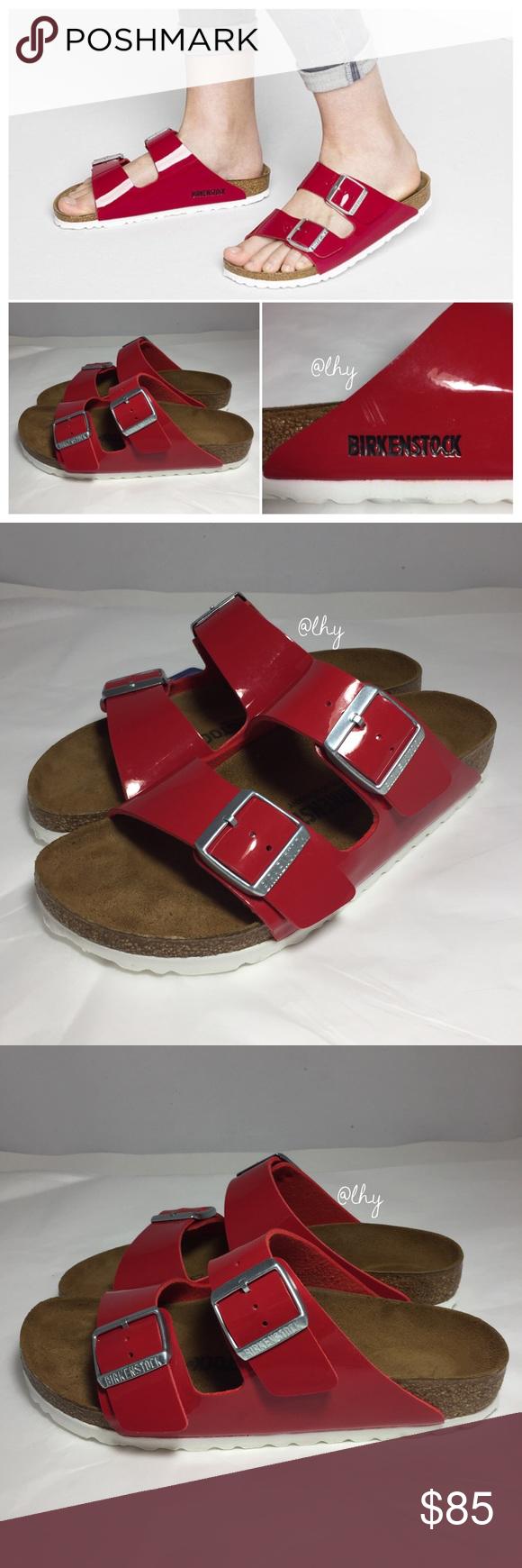 02922d9c48a BIRKENSTOCK ARIZONA BIRKO FLOR PATENT SANDALS SZ6N Authentic NWT Birkenstock  Arizona Sandals in Birko-Flor