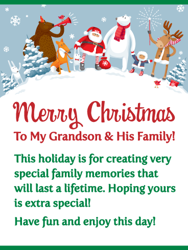 Pin On Christmas Cards For Grandson His Family