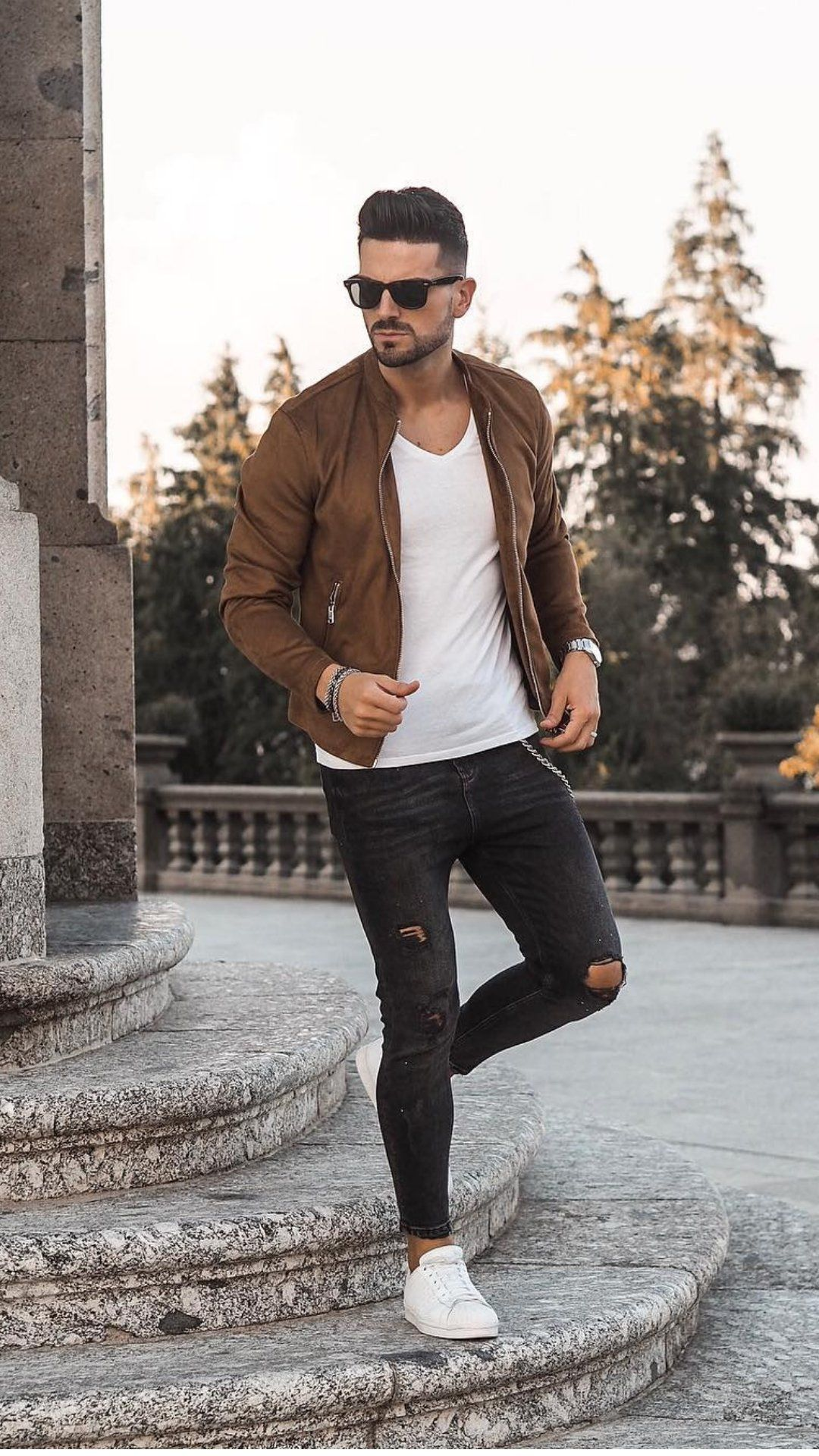 Coolest Bomber Jacket Outfits For Men Fall Outfits Men Mens Outfits Mens Street Style