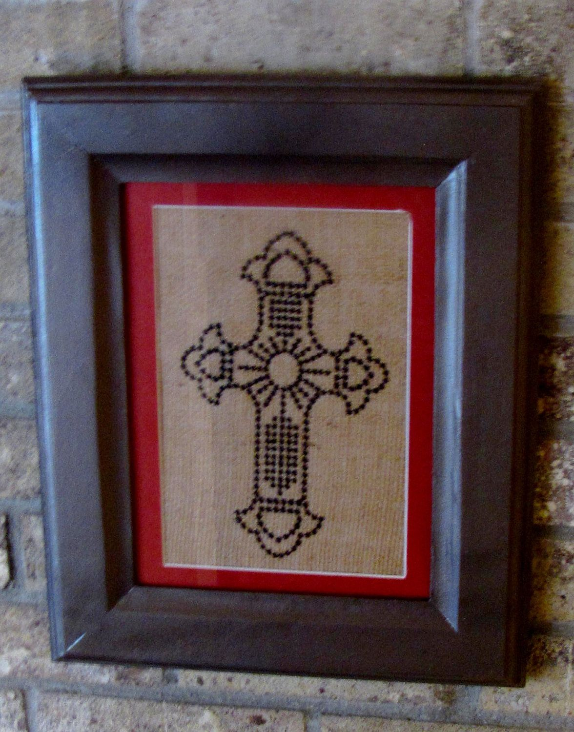 Celtic Cross Wall Hanging by THATSSEWAWESOMEBYCB on Etsy, $35.00