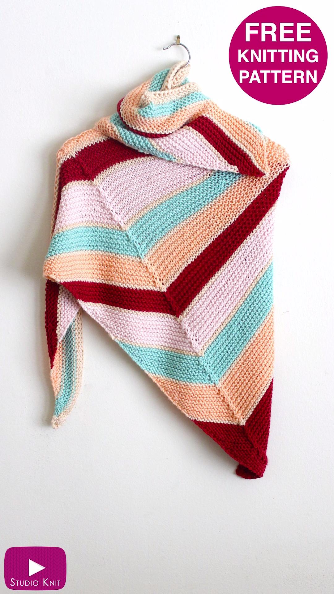 Photo of Asymmetrical Shawl Free Knitting Pattern