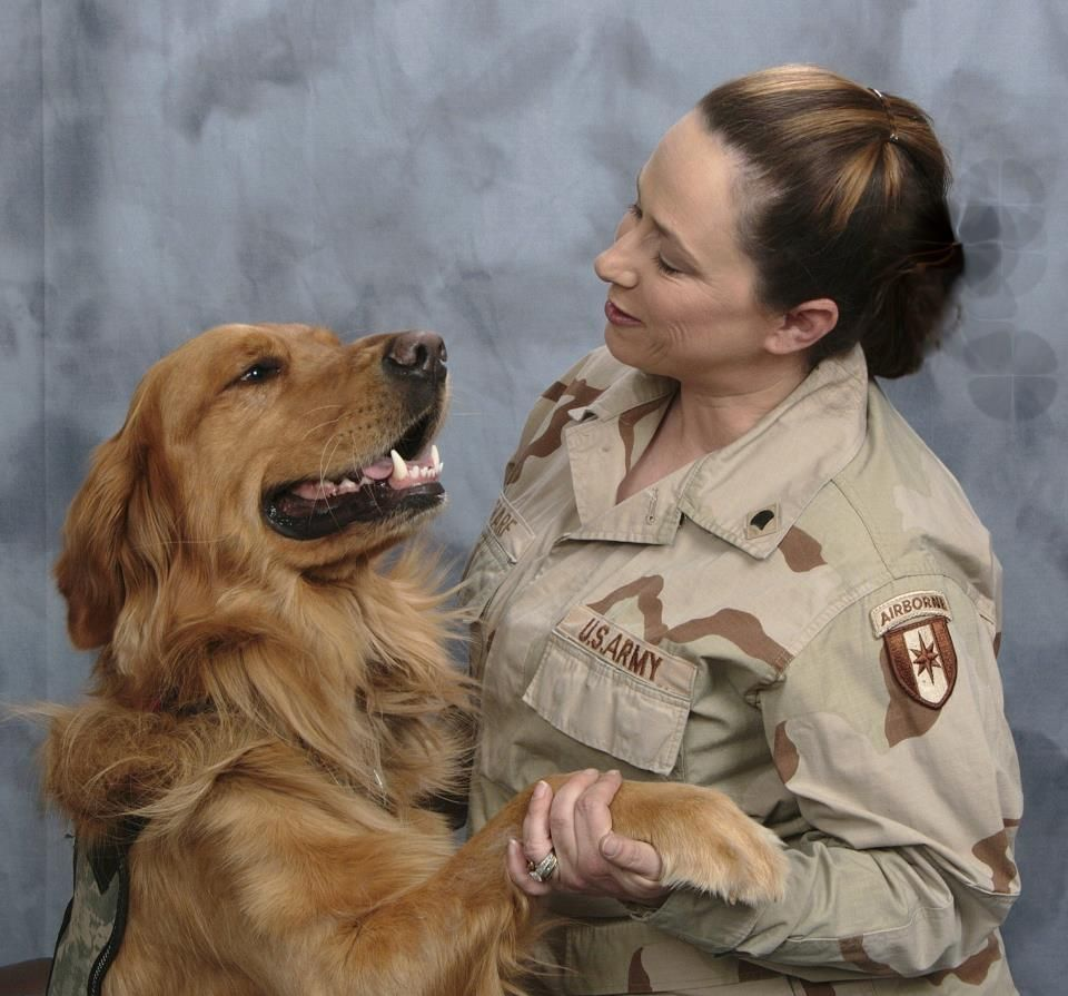 Our Warrior Melissa and her service dog Chauncey make a