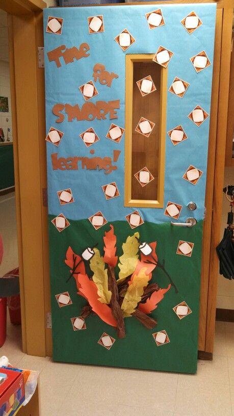 Door Board Ups : Camping theme rd grade science pinterest
