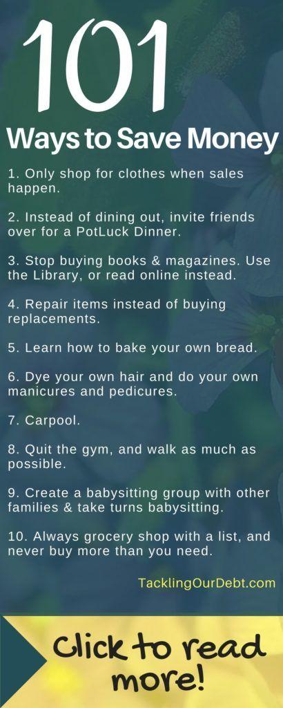 101 Frugal Tips to Help You Save Money #savingmoney