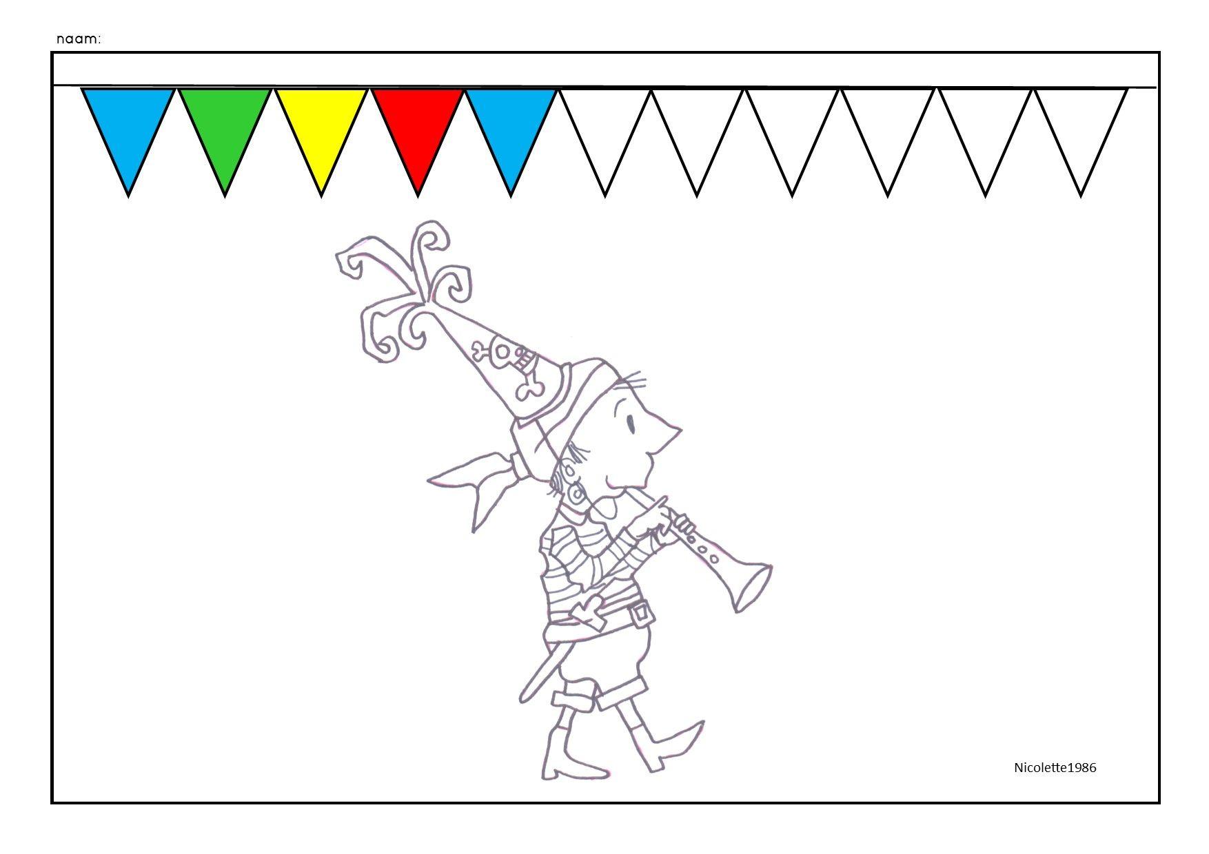 Aadje Piraatje logische reeks vier kleuren