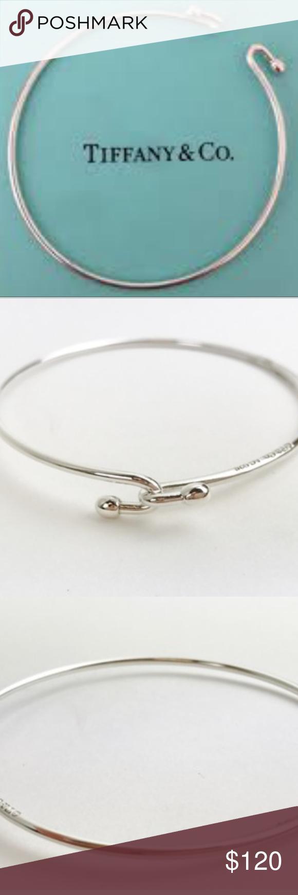 3689ec10f Sterling Silver Wire Bracelet Simple, elegant Tiffany & Co. Sterling Silver  Wire Bracelet . Measures approximately 2.25