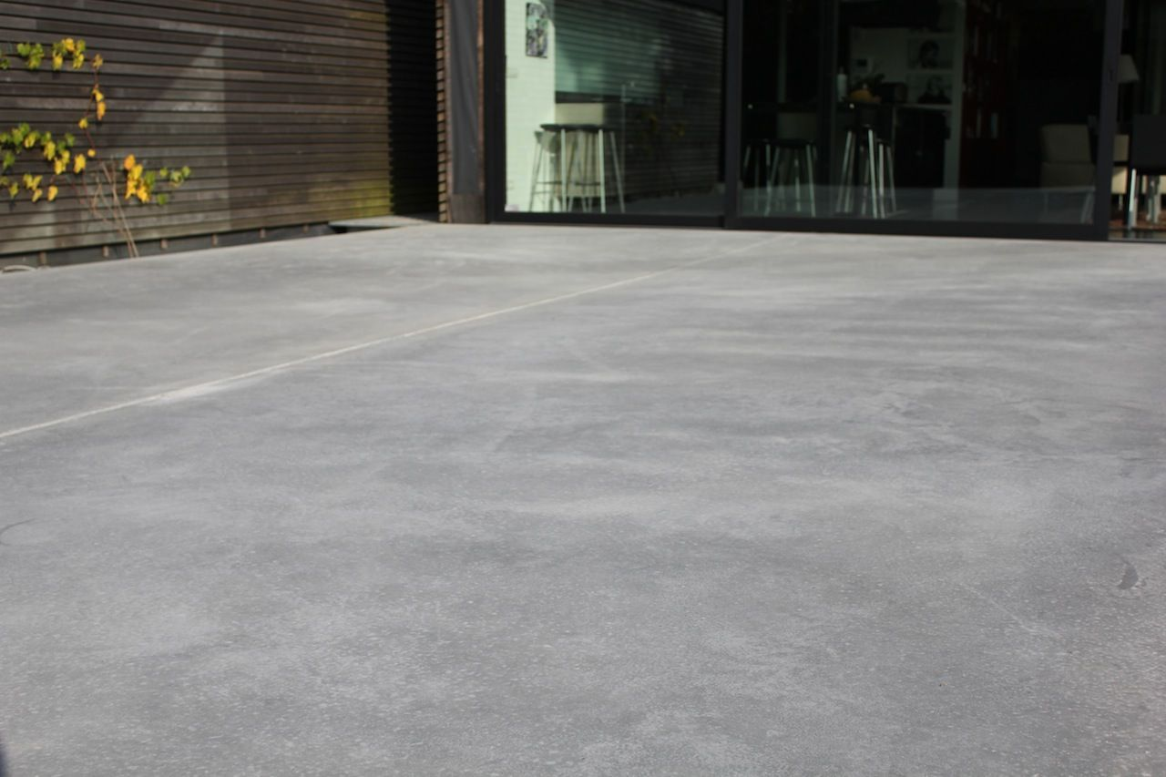 Natural Polished Concrete Terrasse En Beton Naturel Et