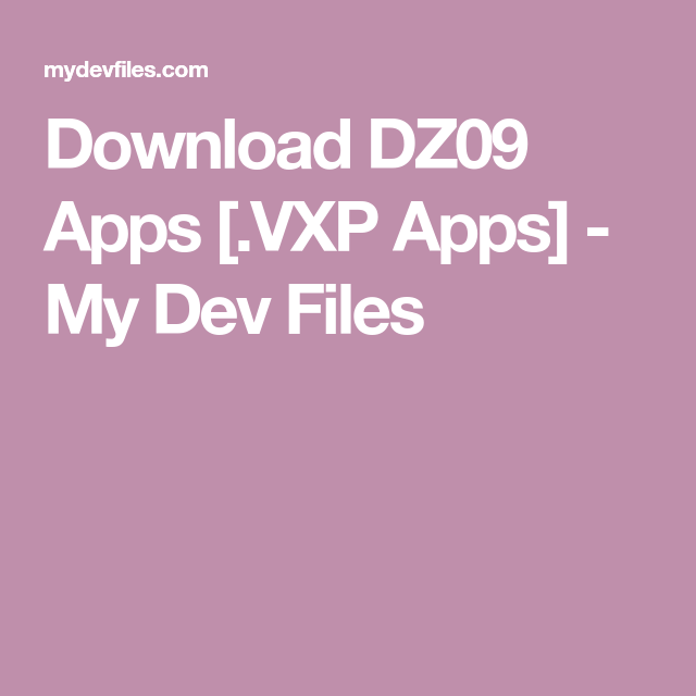 Vxp Apps
