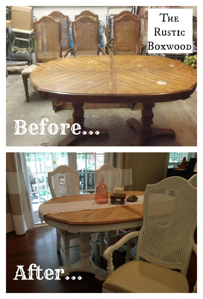 Superbe Vintage Dining Table And Chairs Transformation | The Rustic Boxwood | Diy,  Makeover, Before And After, Transformation, Reno, Renovation, Cane Chairs,  ...