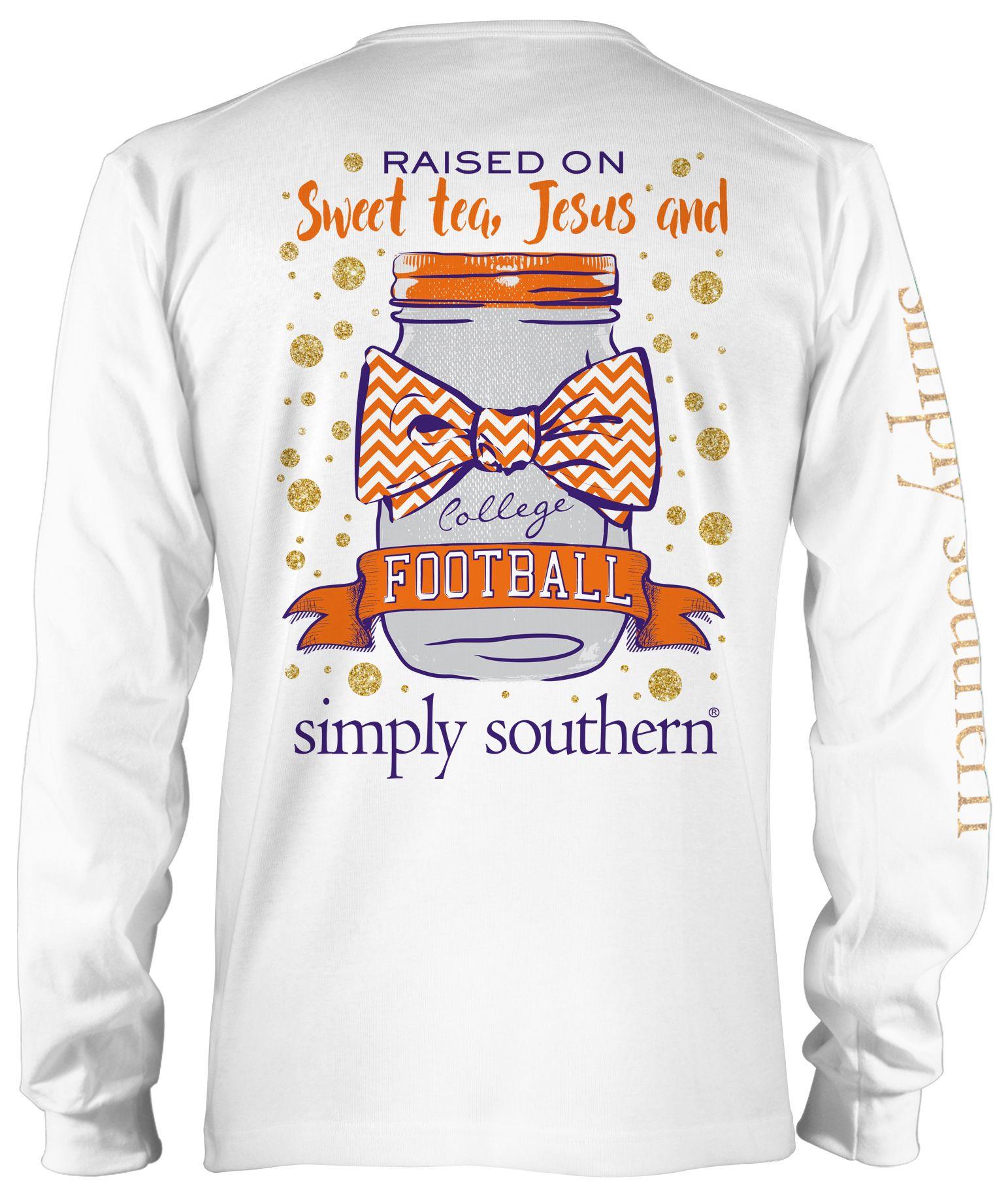Raised on Sweet Tea, Jesus and Football Orange, Purple & White