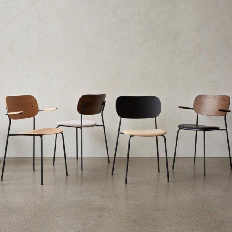 Co Chair, Wood Seat, Black Oak Seat/Black Legs