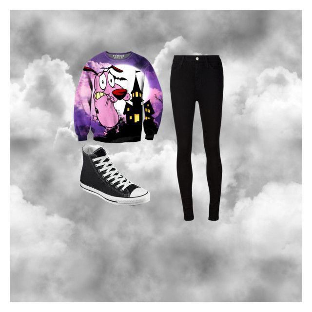 """""""Untitled #24"""" by chicgoth on Polyvore featuring AG Adriano Goldschmied and Converse"""