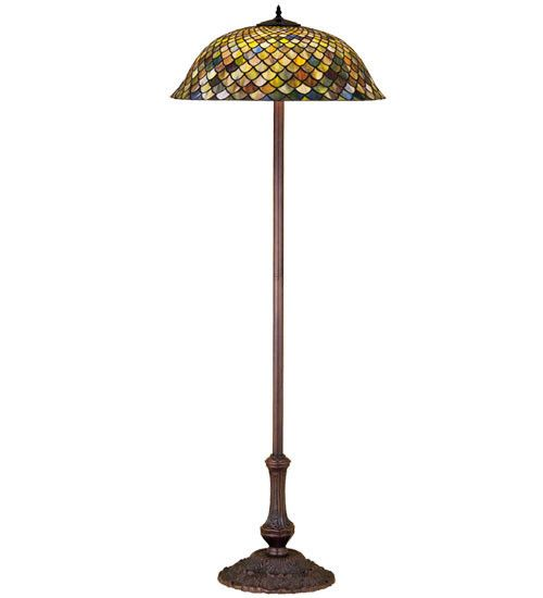 "Meyda 63""H Tiffany Fishscale Floor Lamp"