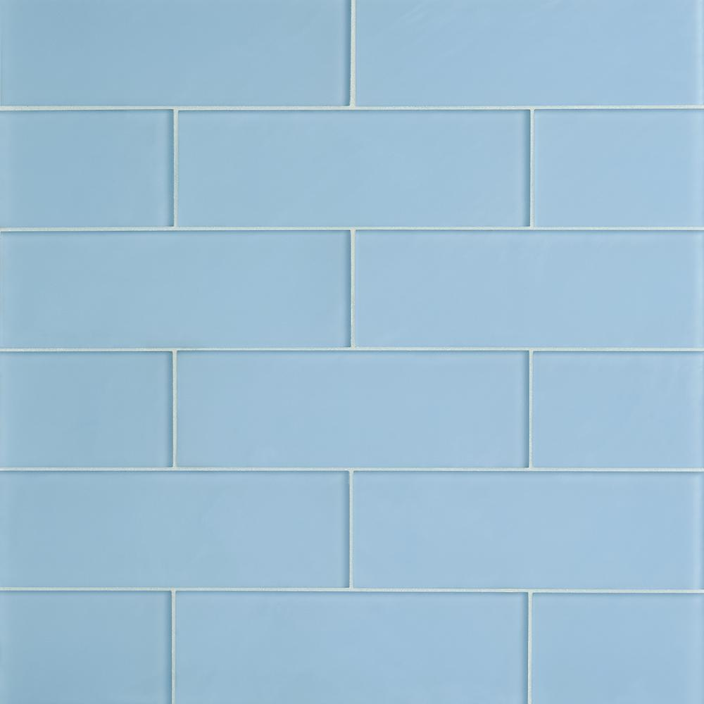 Ivy Hill Tile Contempo 4 In X 12 In Blue Gray Frosted Glass Wall Tile 15 Pieces 5 Sq Ft Case Ext3rd10089 In 2020 Ivy Hill Tile Glass Tile Glass Tile Pattern