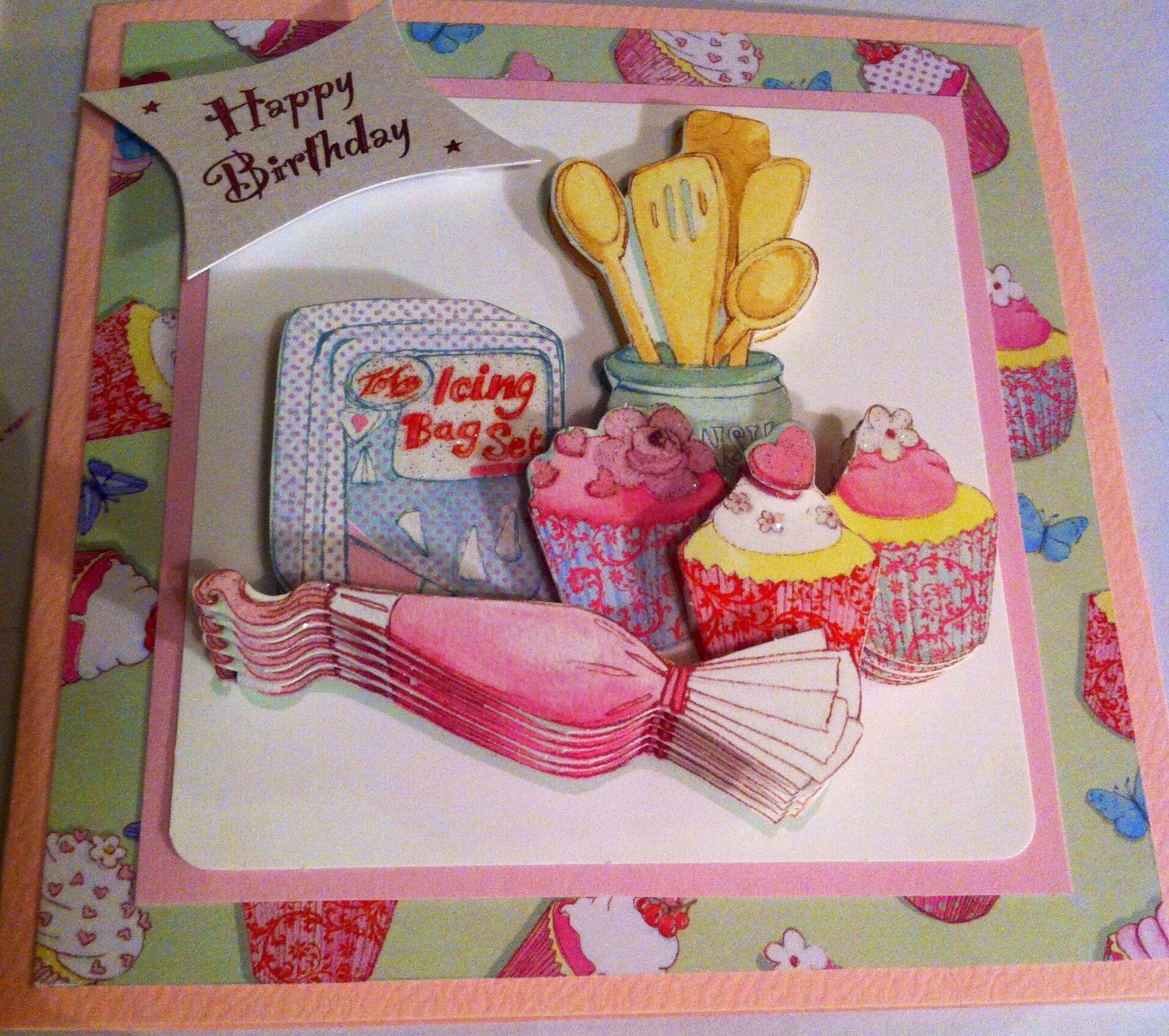 Cupcake icing handmade card design card making inspiration