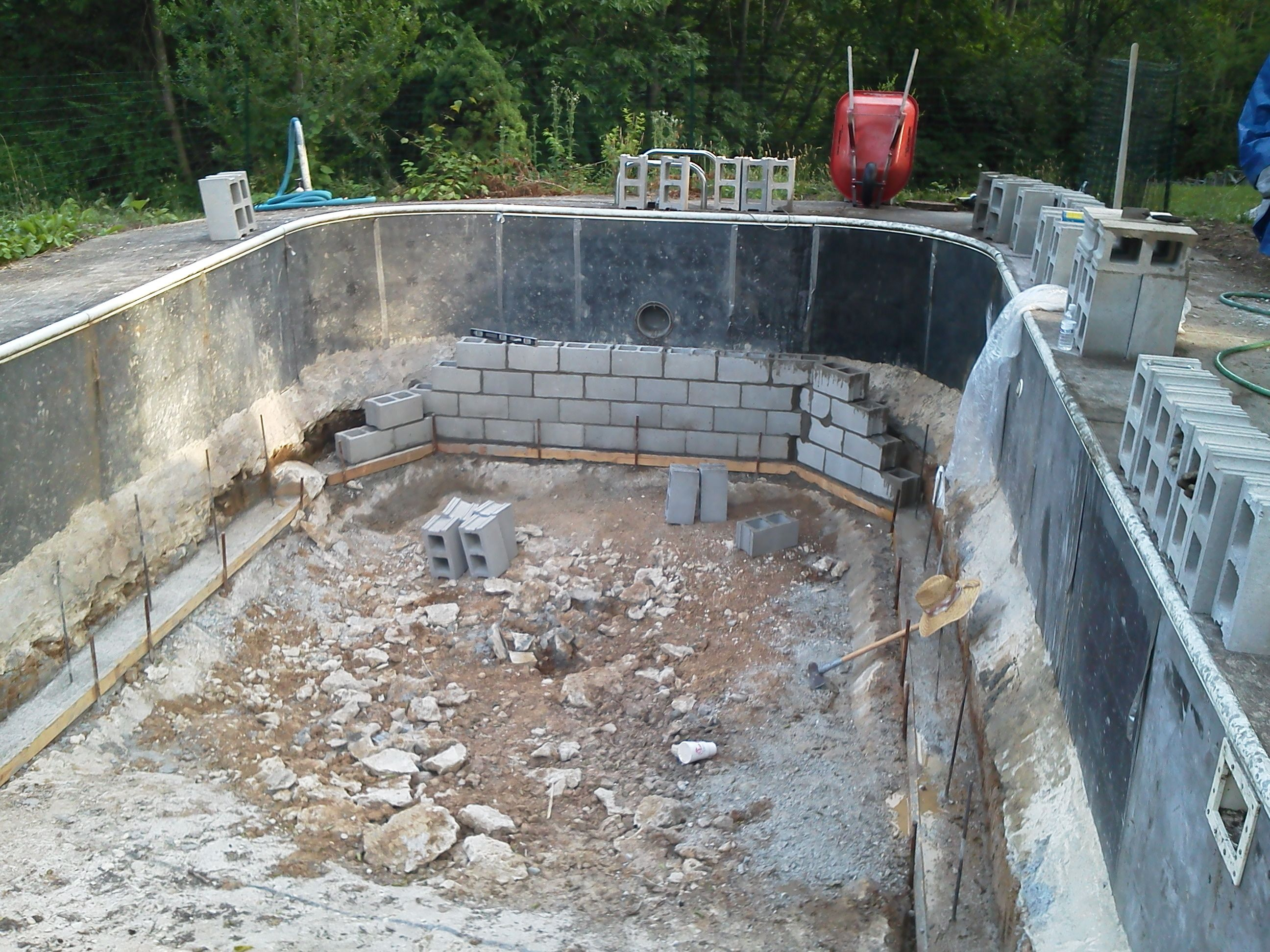Future aquaponics greenhouse pool conversion for Garden pool aquaponics