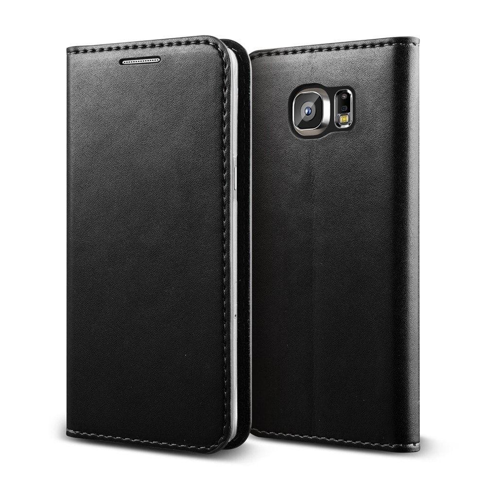 Verus Samsung Galaxy S6 Case Crayon Diary Wallet Series - Black