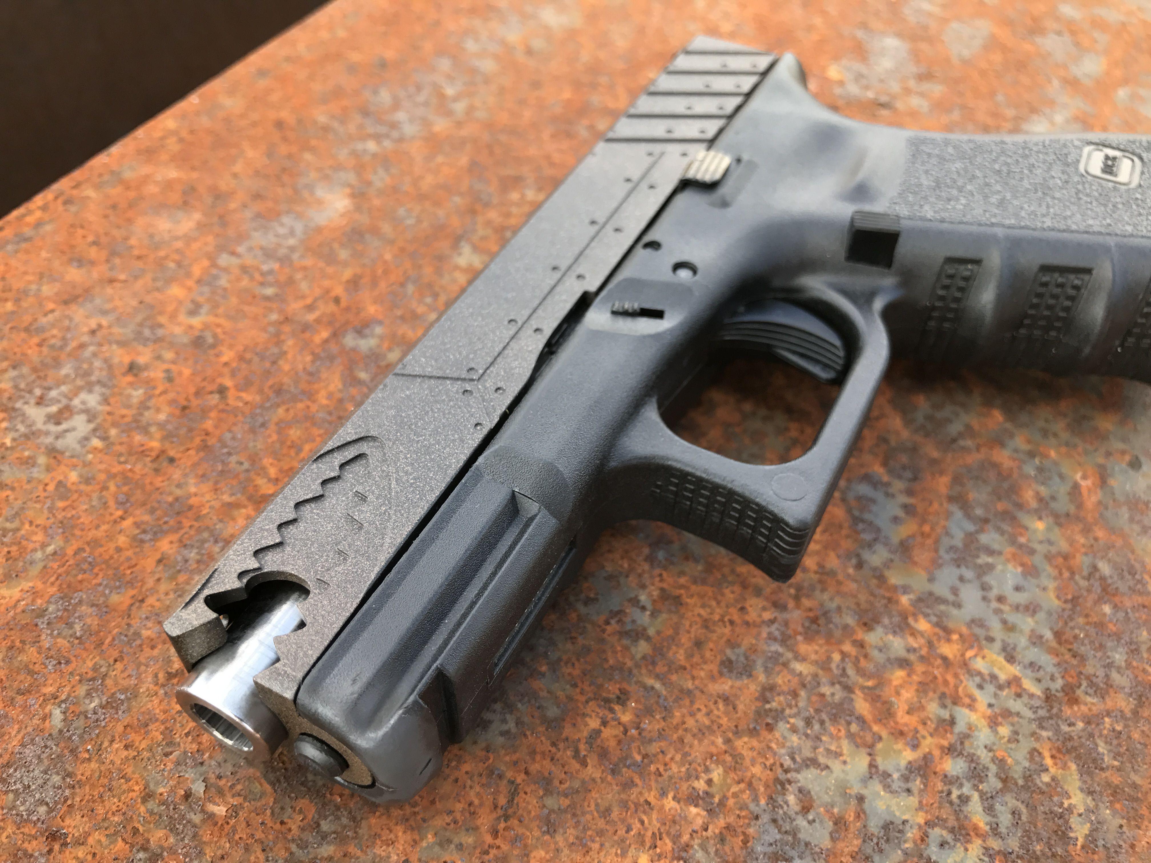 WarHog Glock 19 aftermarket slideLoading that magazine is a pain ...