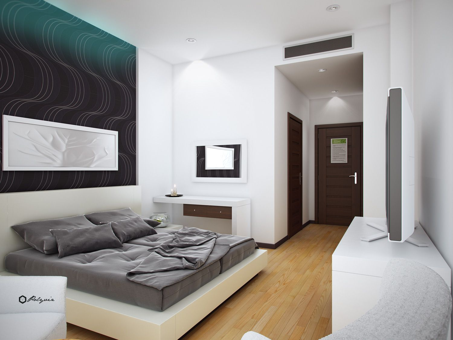 Modern hotel room design google search room design for Modern small bedroom interior design