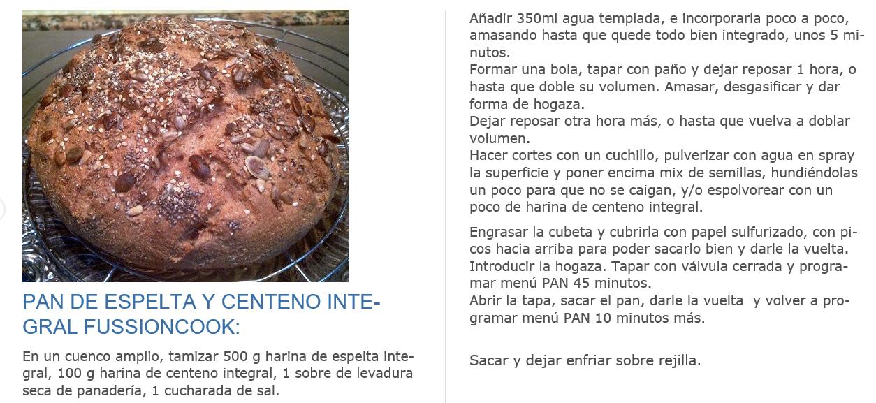 PAN DE ESPELTA Y CENTENO INTEGRAL FUSSIONCOOK (pinchar en foto para ver mas grande)