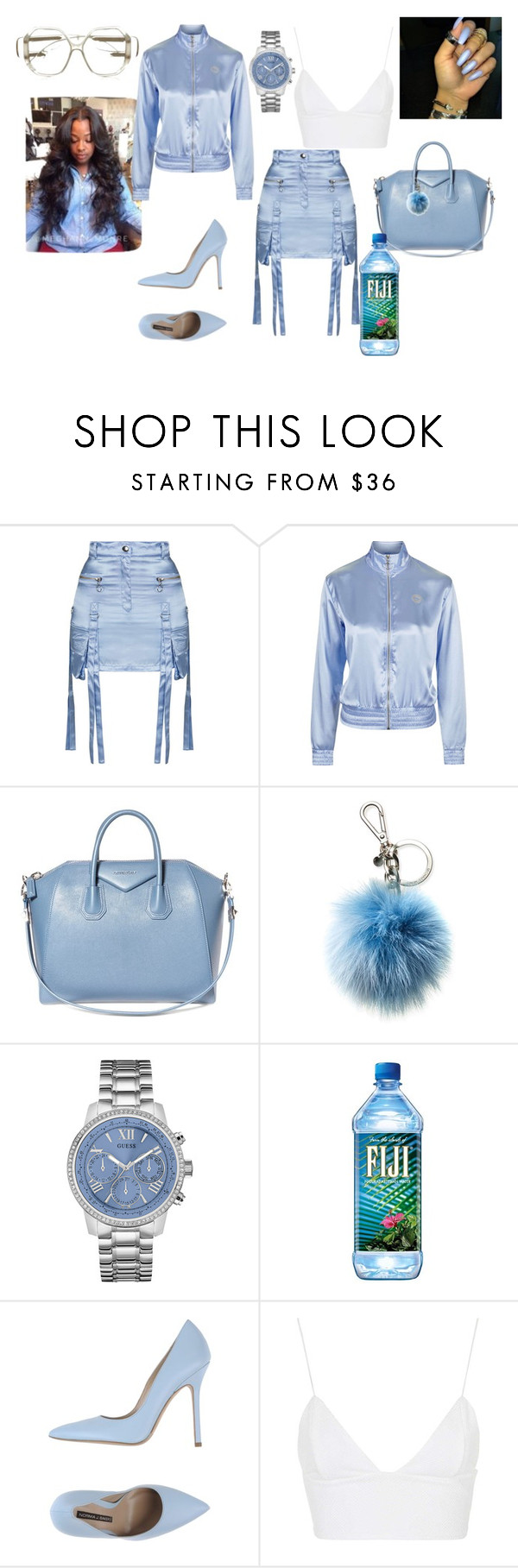 """""""Untitled #452"""" by uniquee28 on Polyvore featuring Topshop, Givenchy, Michael Kors, GUESS, Norma J.Baker, Rare London and Balenciaga"""