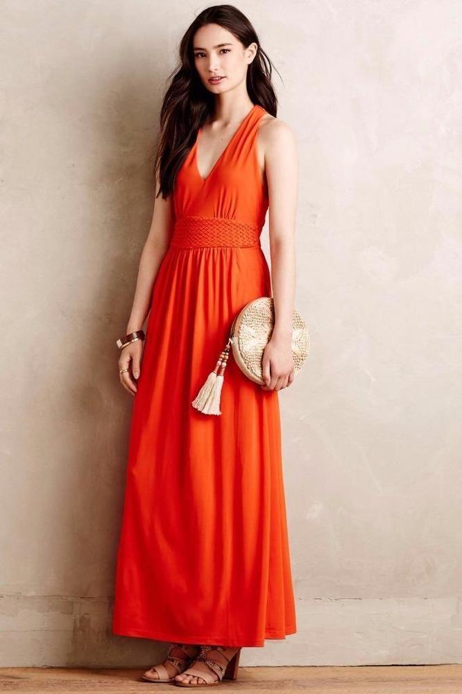 79661dd90ffa NEW ANTHROPOLOGIE $158 Yuma Maxi Dress Maeve Coral Womens Lined Polyester  NWT #Anthropologie #Maxi #SummerBeach