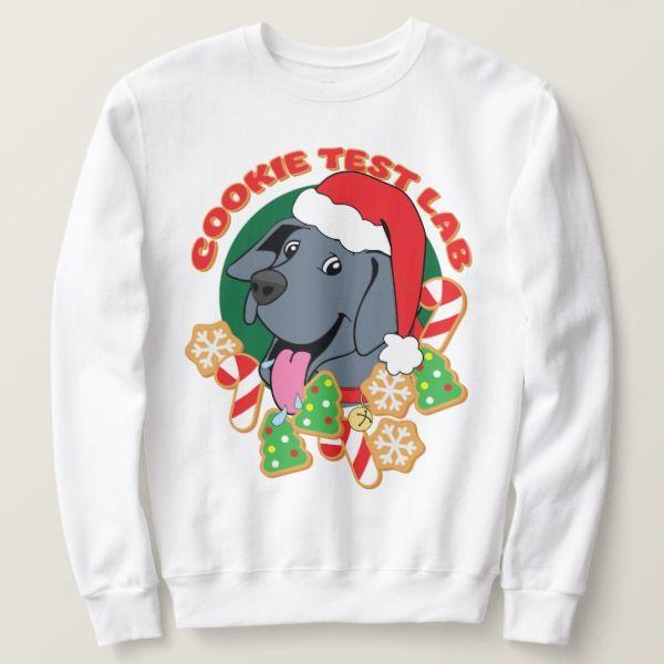 christmas cookie test lab tshirt  zazzle  christmas
