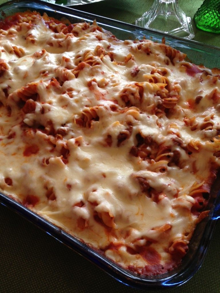Pizza Pasta Casserole - This Lovely Place with Charlotte Siems