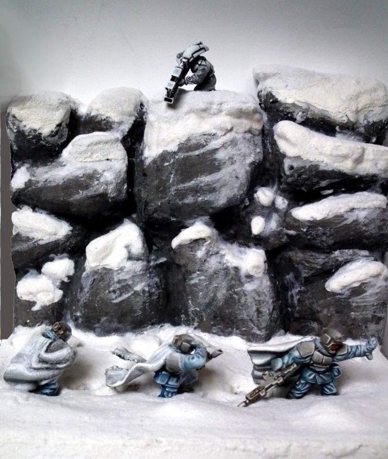 Ambush, Ameazing, Camouflage, Diorama, Duel, Duell, Hills, Imperial Guard, Nice, Pathfinders, Perfect, Pva, Snow, Tau, Warhammer 40'000, Warhammer 40,000, White, Wind, Winter