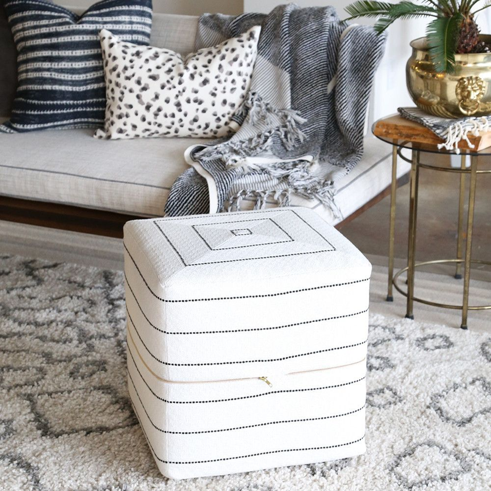Easily add extra seating with our designer, black and white striped ...