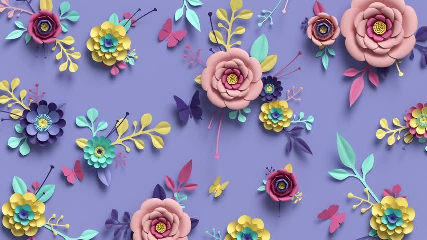 3d Rendering, Animation of Floral Stock Footage Video