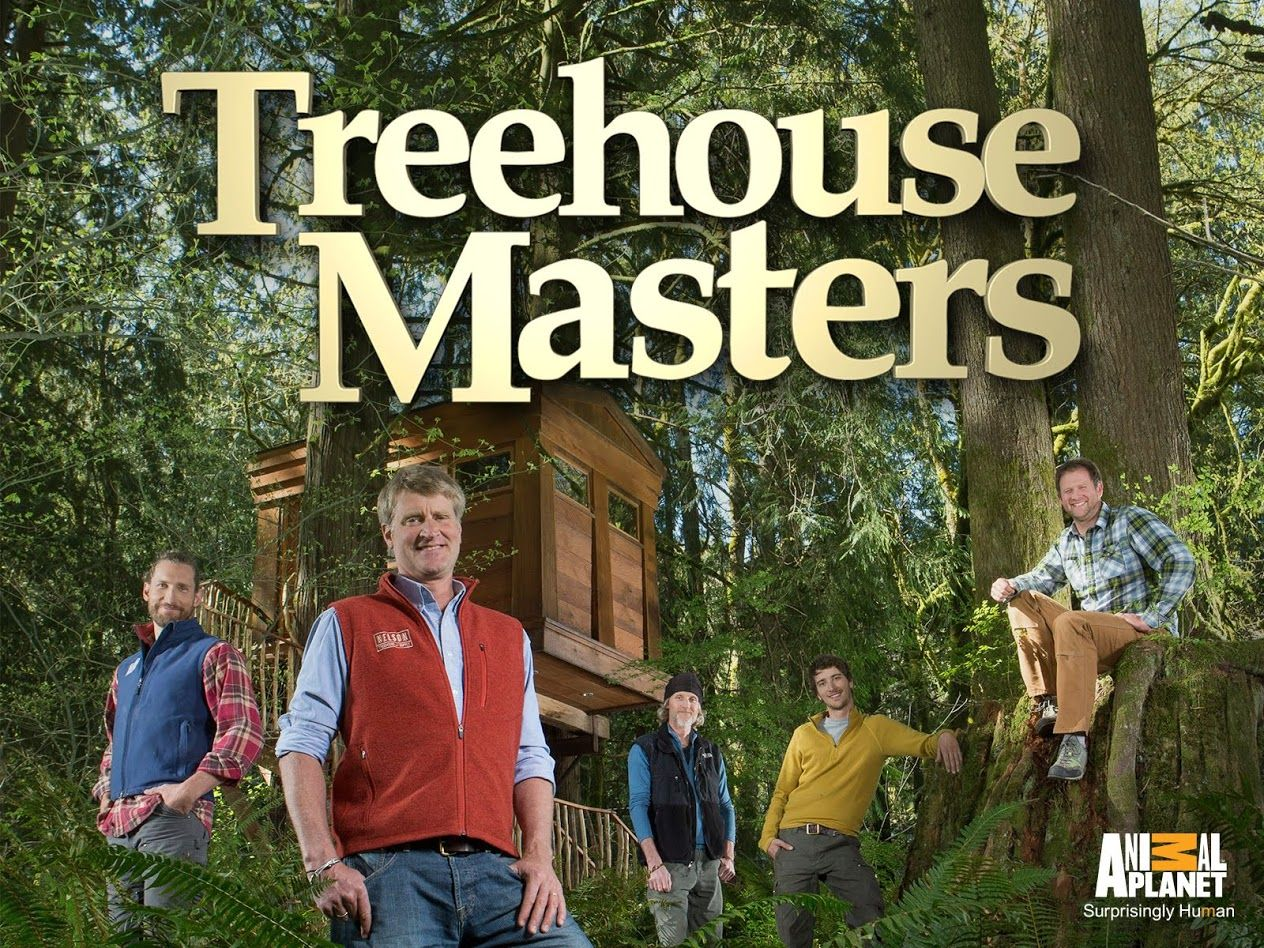 i love to watch treehouse masters tvshow on animal planet pete nelson and his crew are amazing