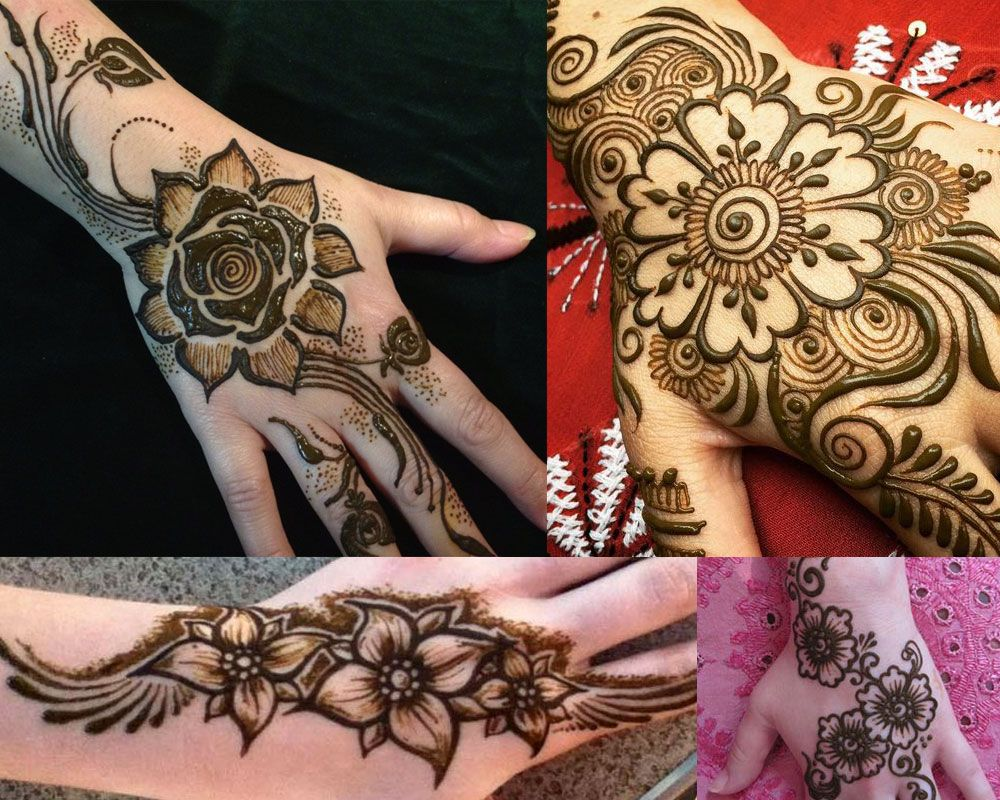 Mehndi Designs For Palm : Beautiful gulf arabic khaleeji flower simple easy henna mehndi