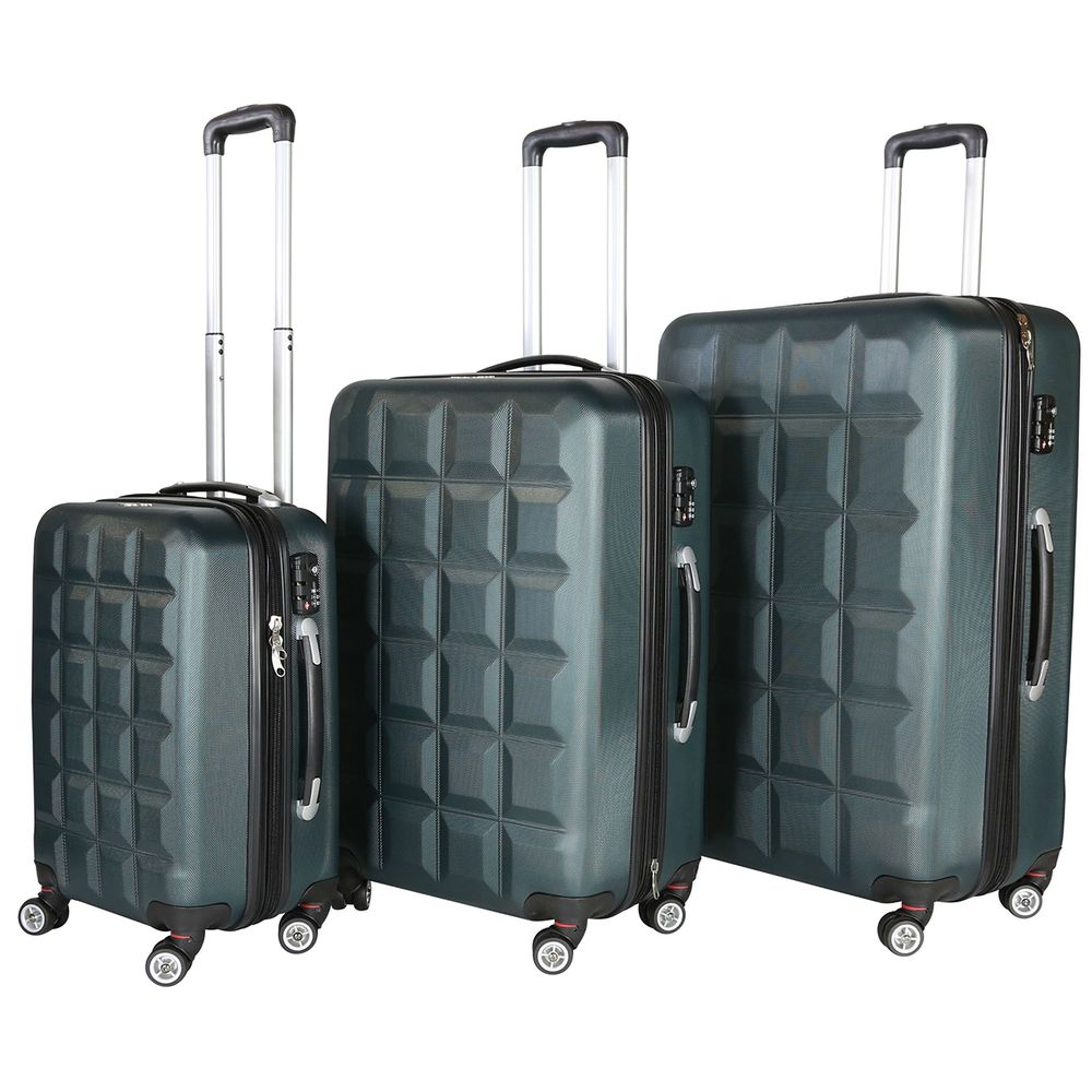 Rivolite venice olive green lightweight hardside spinner luggage set overstock shopping great deals on three piece sets