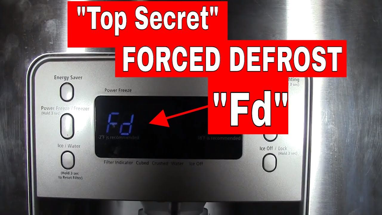 Forced Manual Defrost Mode On A Samsung Refrigerator Top Secret Setting Samsung Refrigerator Samsung Fridge Refrigerator