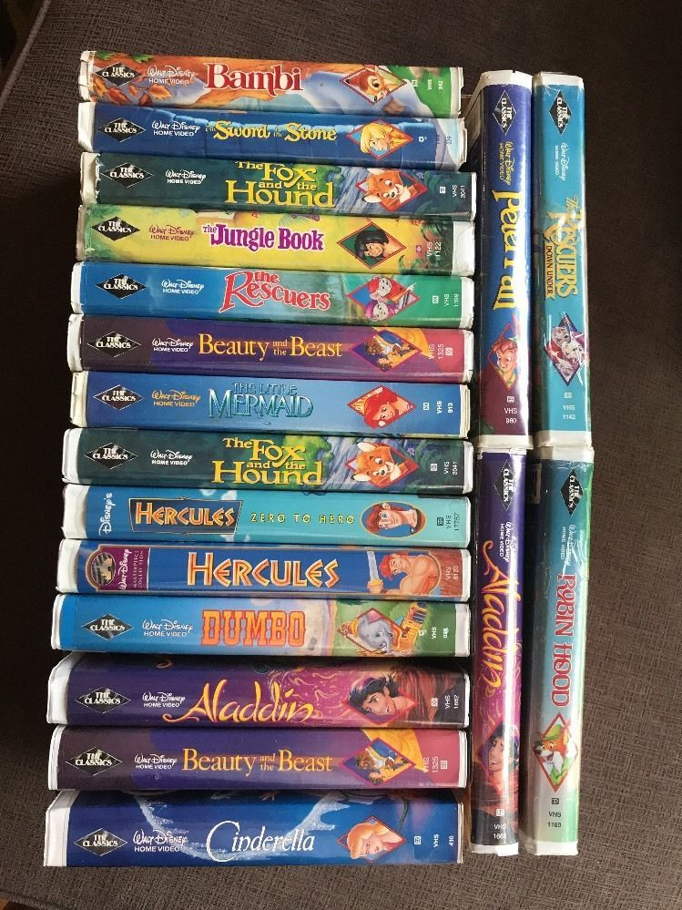 Details About Walt Disney S 18 Lot Vhs Rare Set Black Diamond