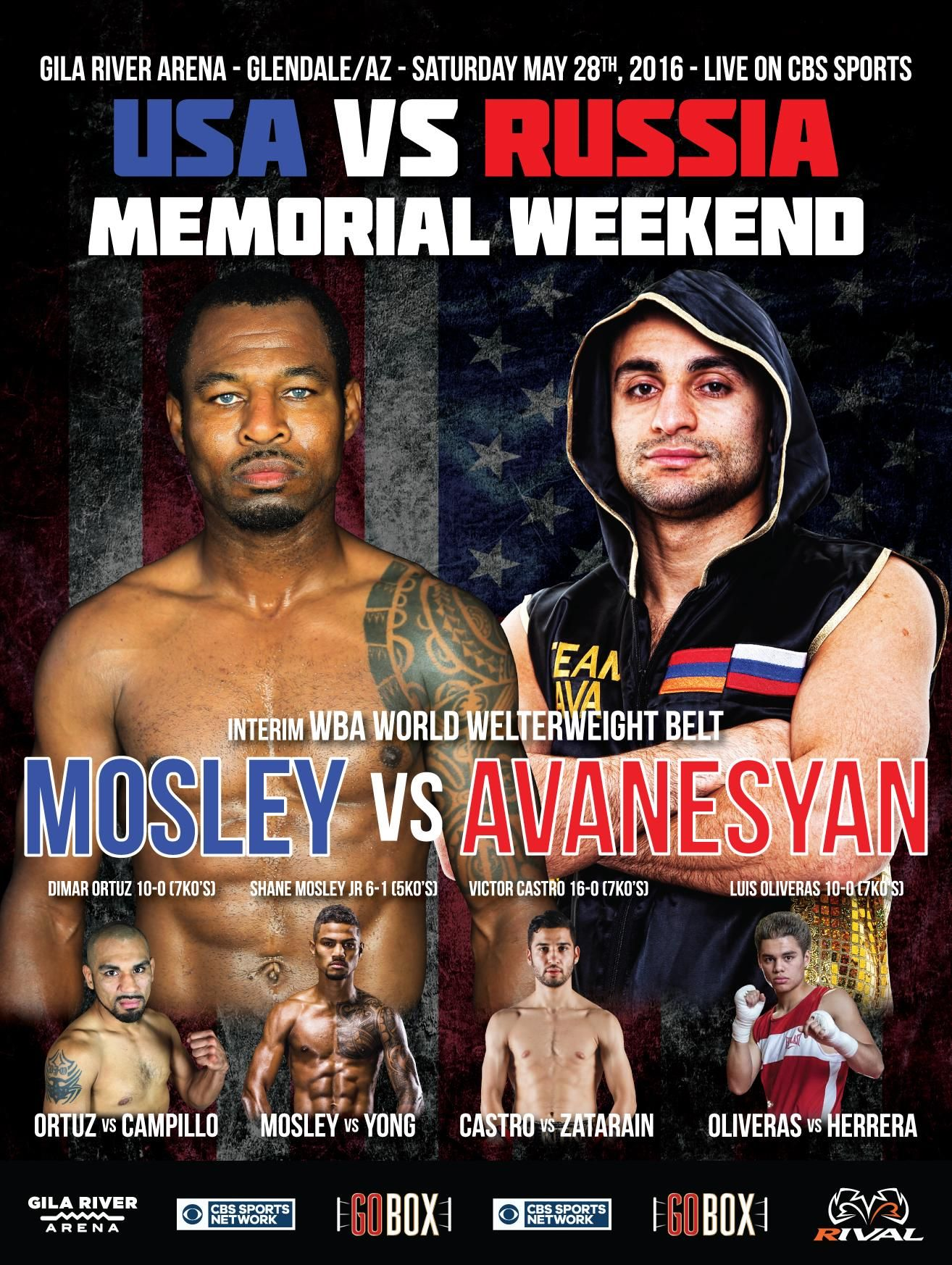 Mosley vs. Avanesyan battle for the WBA Welterweight