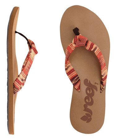 48c3da3e6 Another great find on  zulily! Sunset Guatemalan Knot Flip-Flop ...